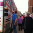 Signing the bus in Dubuque