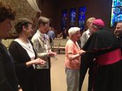 Bishop O'Connell with NETWORK Nuns on the Bus