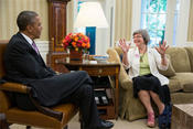 Sister Simone Campbell with President Obama