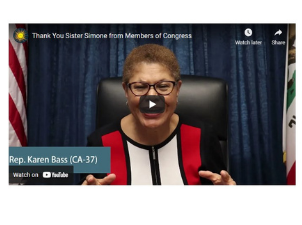 WATCH: Thank You Sister Simone from Members of Congress