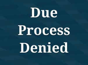 Due Process Denied: New Report from Kino Border Initiative and NETWORK