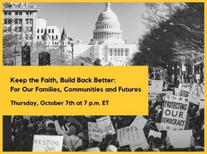 Watch Live: Keep the Faith, Build Back Better